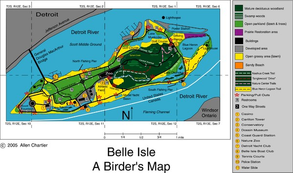 Belle Isle Park Map