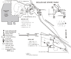 Bellevue State Park Map