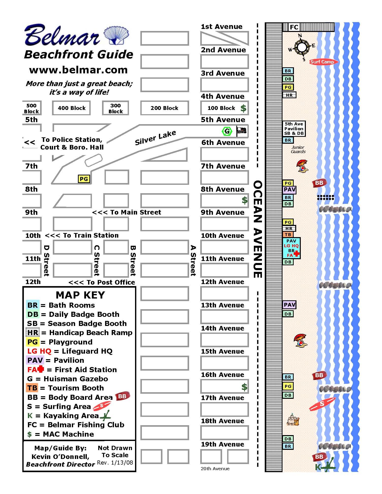 Belmar Beach nj Map Belmar Beach nj Map