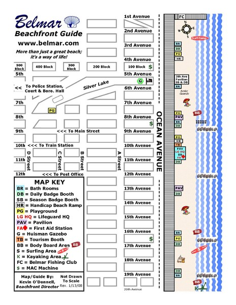 Belmar Tourist Map