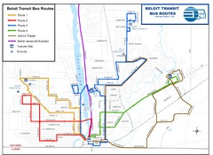 Beloit Bus Routes Map