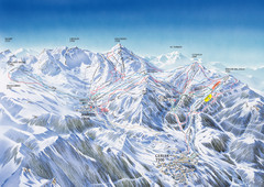 Benasque-Cerler Region Ski Trail Map
