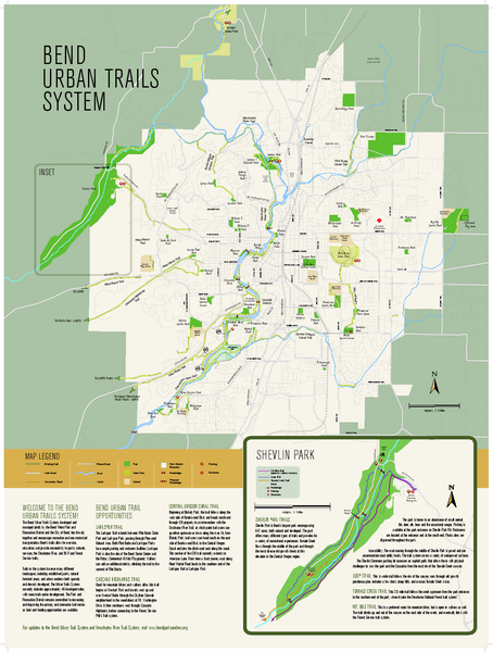 Bend urban trails system Map