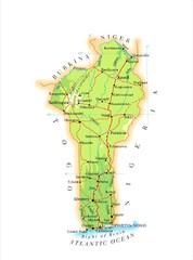 Benin Political Map mappery