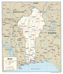 Benin Political Map
