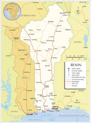 Benin Tourist Map