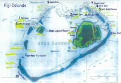 Beqa Island dive sites Map