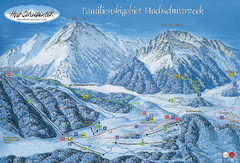 Berchtesgadener Land Ski Trail Map