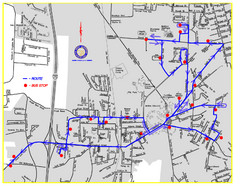 Berea Bus Route Map