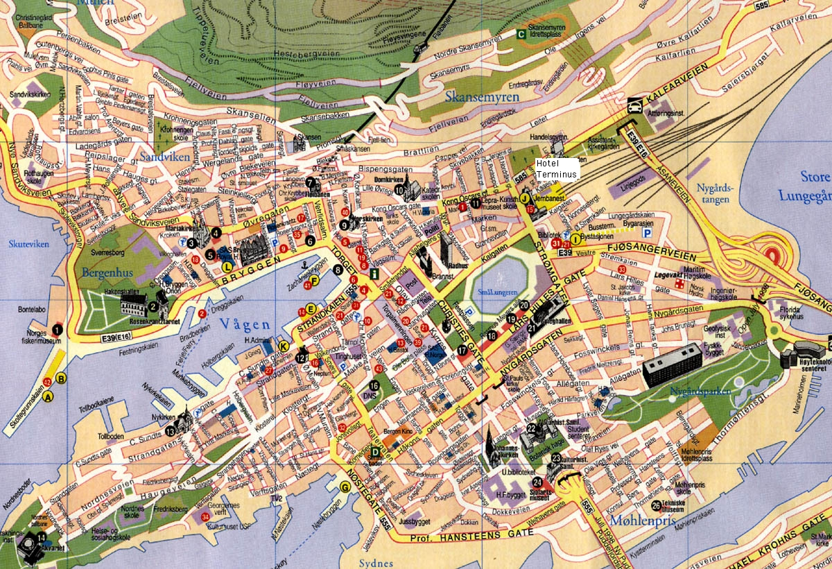 Map Bergen Norway