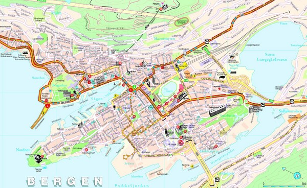 Norway maps mappery – Tourist Attractions Map In Norway