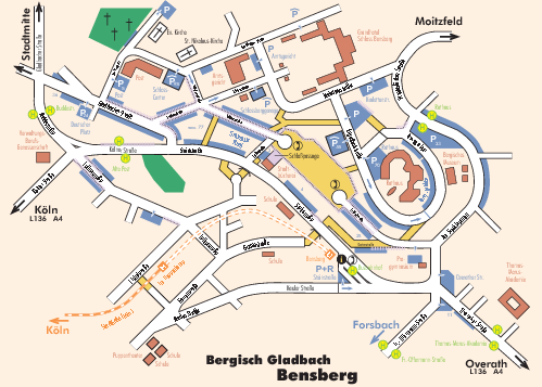 Bergisch Gladbach Tourist Map Bergisch Gladbach Germany Mappery - Map of koln germany