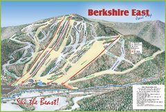 Berkshire East Ski Area Ski Trail Map