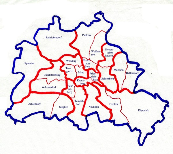 Berlin Bezirke Map