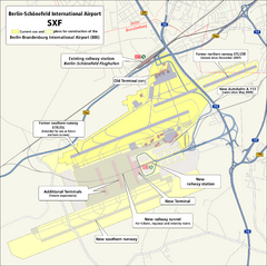 Berlin Schonefeld SXF Airport Map
