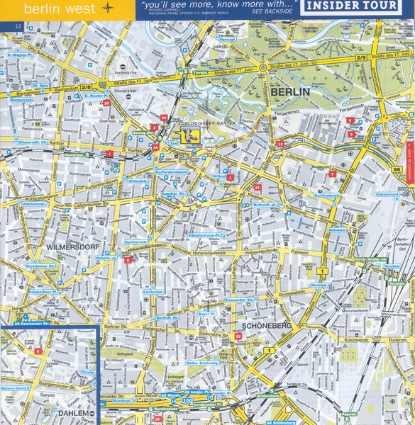 Berlin Map Of Germany.Berlin Street Map West Berlin Germany Mappery