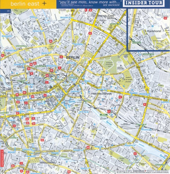 Berlin Street map - East