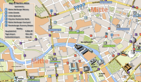 real life map collection mappery – Berlin Tourist Map Pdf