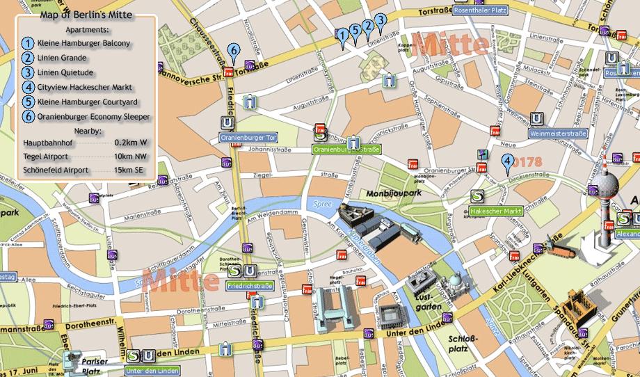 Berlin Tourist Map - Berlin • mappery