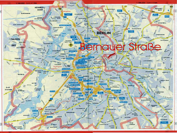 Berlin Tourist Map