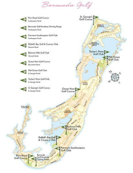 Bermuda Golf Map - Bermuda • mappery