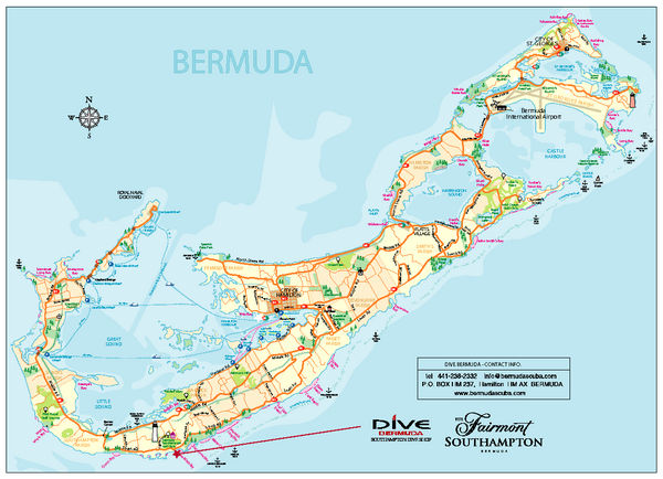 Bermuda Overview Map - Bermuda • mappery