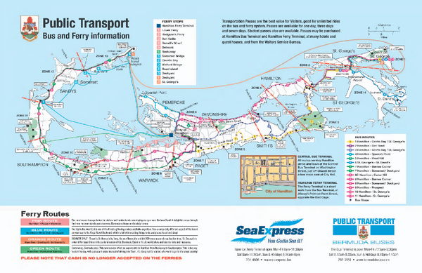 Bermuda Public Transport Map - Bermuda • mappery