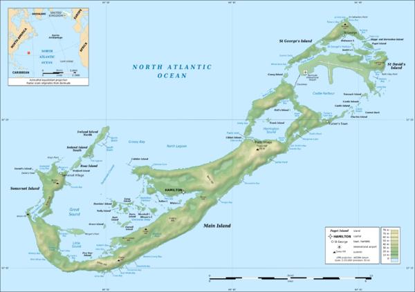 Tourist map of Bermuda Bermuda mappery – Bermuda Tourist Map