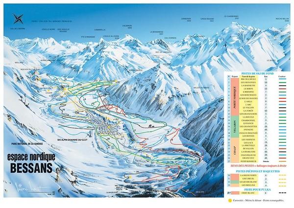Bessans Ski Trail Map Bessans RhneAlpes France mappery