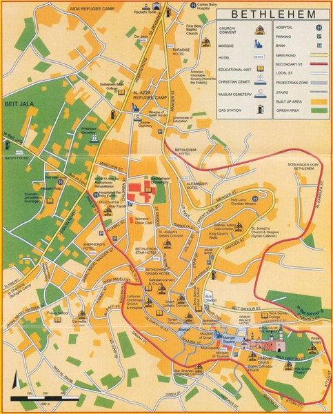 Bethlehem Tourist Map