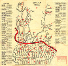 Beverly Hills stars homes map