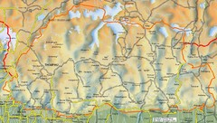 Bhutan Tourist map Bhutan mappery