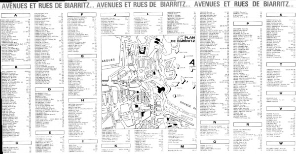 Biarittz - back (index) Map