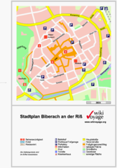Biberach an der Riß Tourist Map