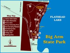 Big Arm State Park Map