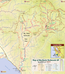 Big Basin Redwoods State Park Trail Map