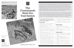 Big Bend Ranch, Texas Contrabando Trail Map
