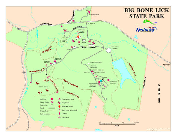 Big Bone Lick State Park Map