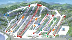 Big Boulder SKi Trail Map