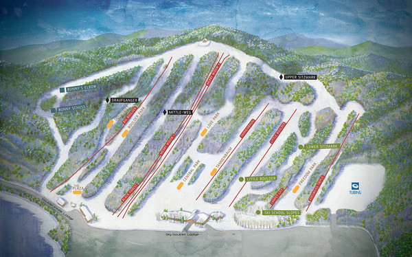 Big Boulder Ski Area Ski Trail Map