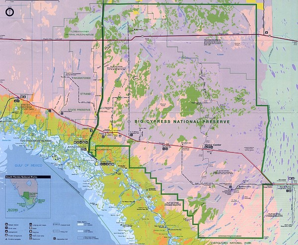 Big Cypress National Reserve Map