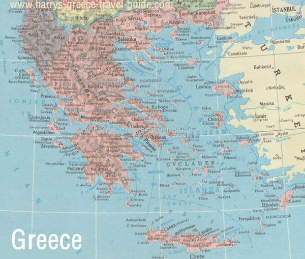 Big Greece Map Greece mappery