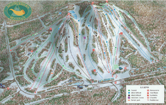 Big Powderhorn Mountain Ski Trail Map