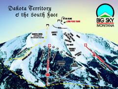 Big Sky Resort Dakota Territory Detail Ski Trail...