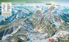 Big Sky Ski Resort Trail Map (Eastern exposure...