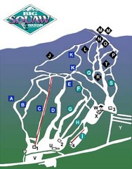 Big Squaw Ski Trail Map