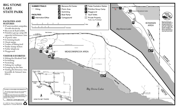 Big Stone Lake State Park Map