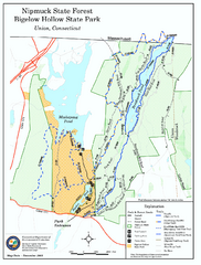 Bigelow Hollow State Park trail map