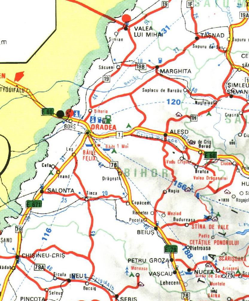 Bihor Romania Road Map Bihor Romania mappery