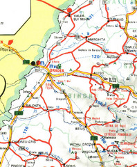 Bihor Romania Road Map